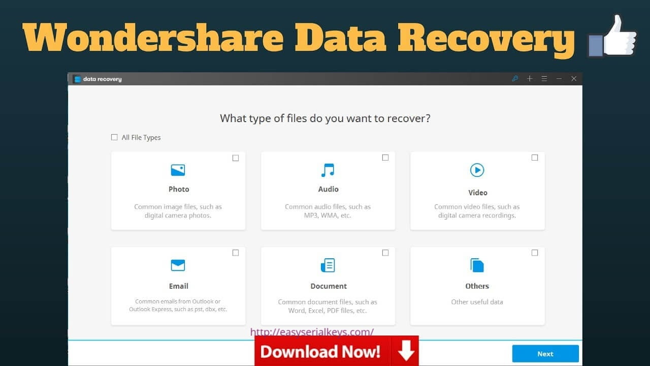 Wondershare Data Recovery 8.5.7 Download Free Crack